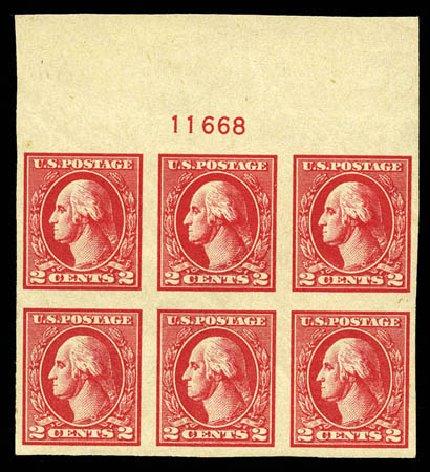 Costs of US Stamp Scott Catalogue #534A: 2c 1920 Washington Offset Imperf. Matthew Bennett International, Mar 2012, Sale 344, Lot 4661