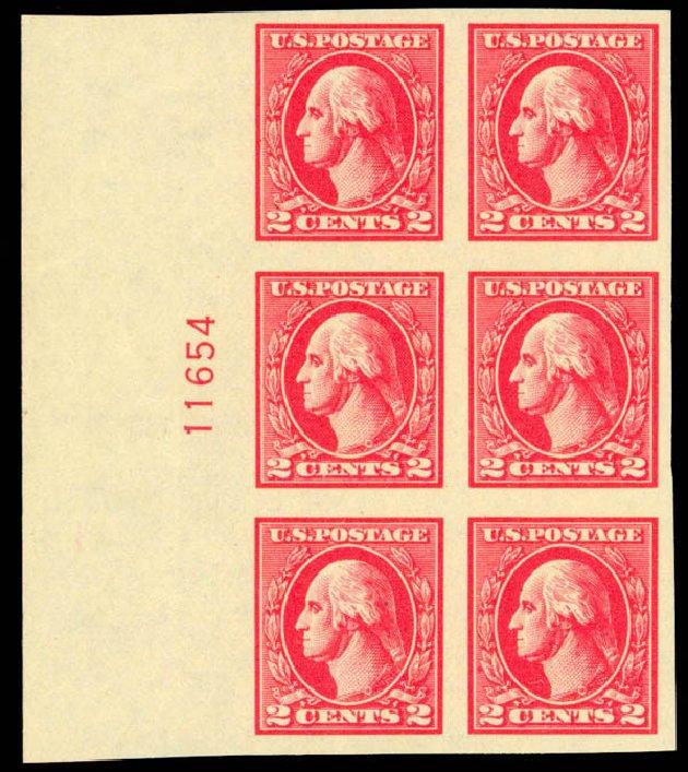 US Stamp Price Scott Catalogue #534A: 2c 1920 Washington Offset Imperf. Daniel Kelleher Auctions, Mar 2013, Sale 635, Lot 641