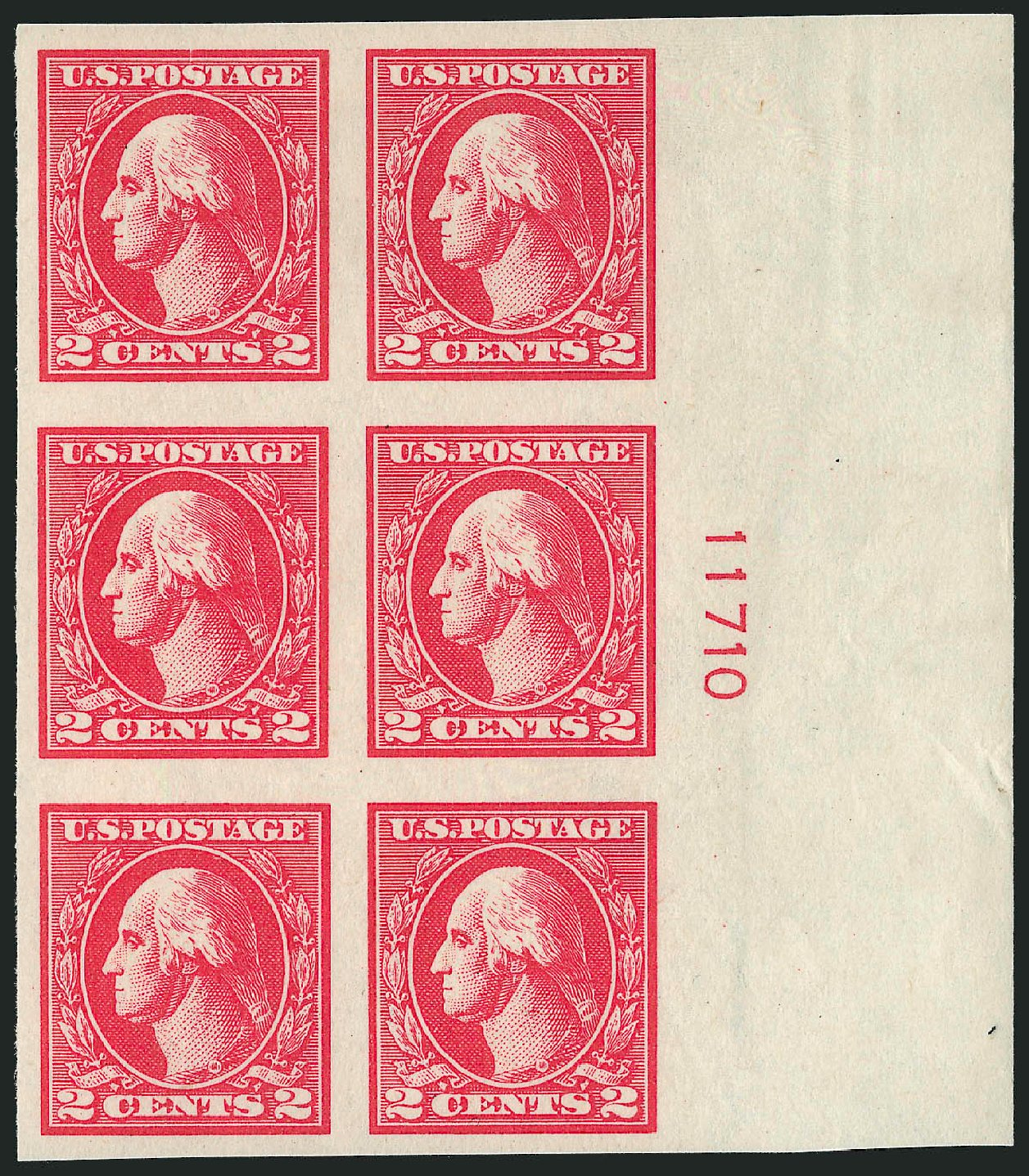 Values of US Stamps Scott Cat. #534A - 2c 1920 Washington Offset Imperf. Robert Siegel Auction Galleries, Oct 2011, Sale 1014, Lot 2031