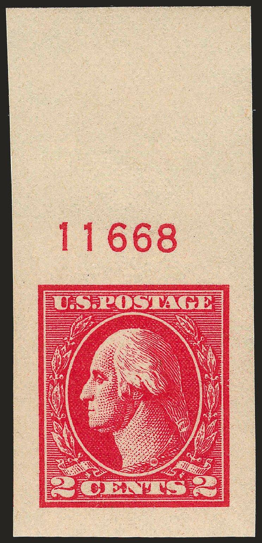 Value of US Stamp Scott Catalog # 534A: 1920 2c Washington Offset Imperf. Robert Siegel Auction Galleries, Sep 2009, Sale 968B, Lot 704