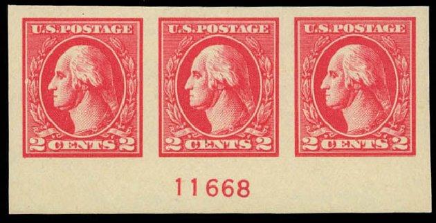 US Stamp Prices Scott #534A: 2c 1920 Washington Offset Imperf. Daniel Kelleher Auctions, Jun 2012, Sale 630, Lot 1895