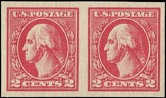 US Stamp Value Scott Cat. 534A - 2c 1920 Washington Offset Imperf. Regency-Superior, Aug 2015, Sale 112, Lot 925