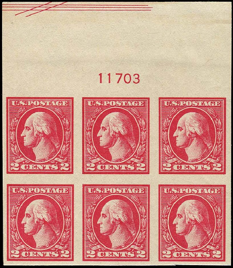 Value of US Stamp Scott Cat. # 534A: 2c 1920 Washington Offset Imperf. Regency-Superior, Aug 2015, Sale 112, Lot 1363