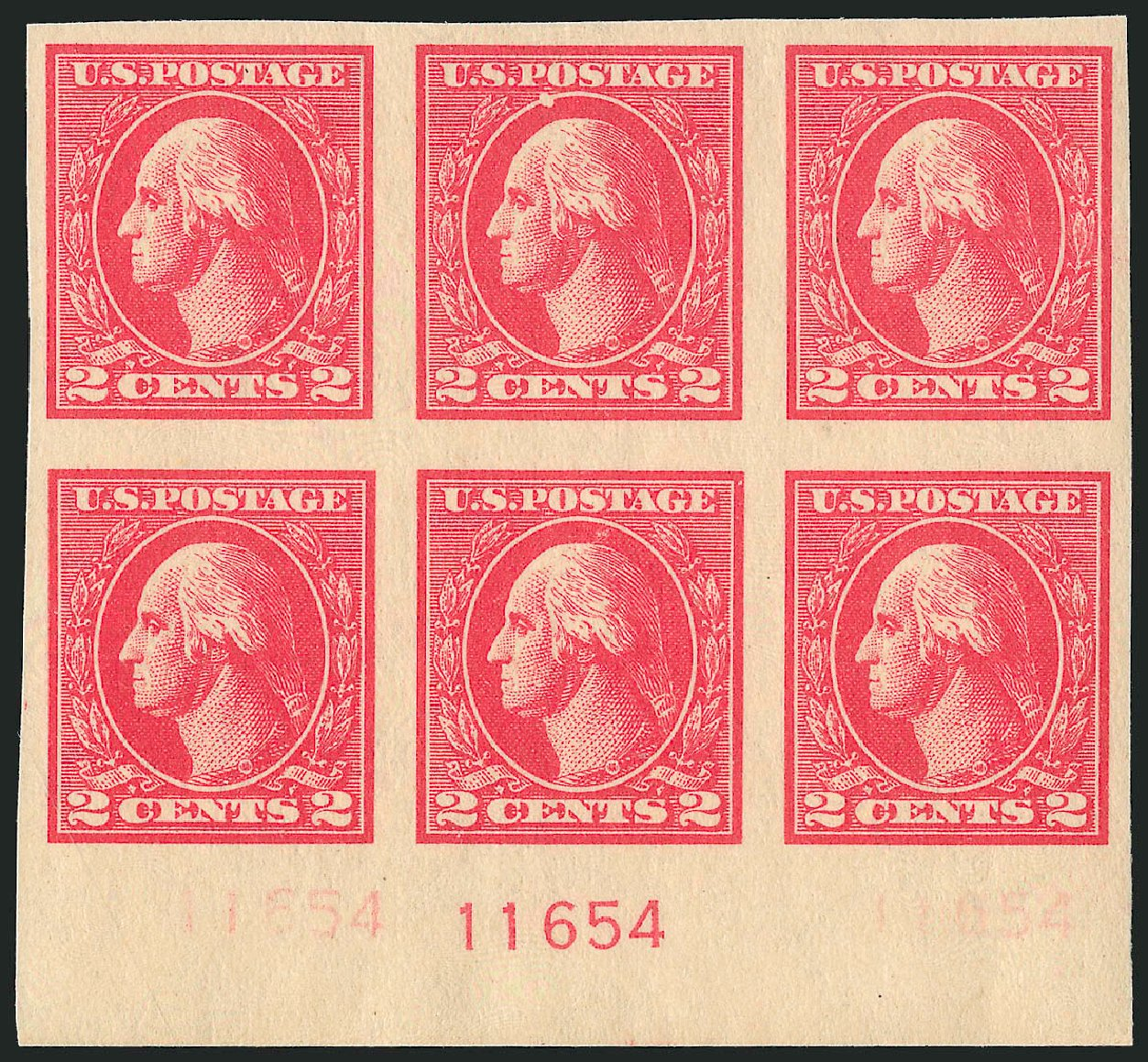 US Stamp Prices Scott Catalog #534A - 1920 2c Washington Offset Imperf. Robert Siegel Auction Galleries, Sep 2014, Sale 1078, Lot 583