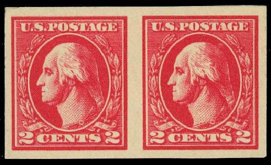 US Stamp Values Scott Catalogue # 534A - 2c 1920 Washington Offset Imperf. Daniel Kelleher Auctions, Jan 2012, Sale 628, Lot 546