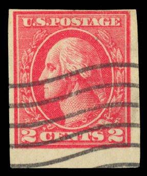 US Stamps Price Scott Catalogue # 534B: 1920 2c Washington Offset Imperf. Daniel Kelleher Auctions, May 2014, Sale 652, Lot 737