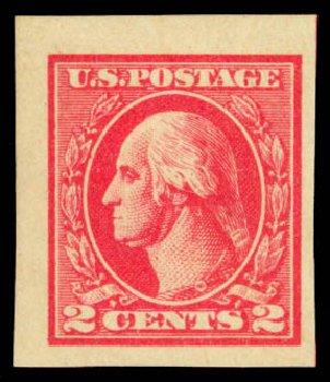 US Stamps Value Scott Cat. 534B: 2c 1920 Washington Offset Imperf. Daniel Kelleher Auctions, Dec 2014, Sale 661, Lot 407