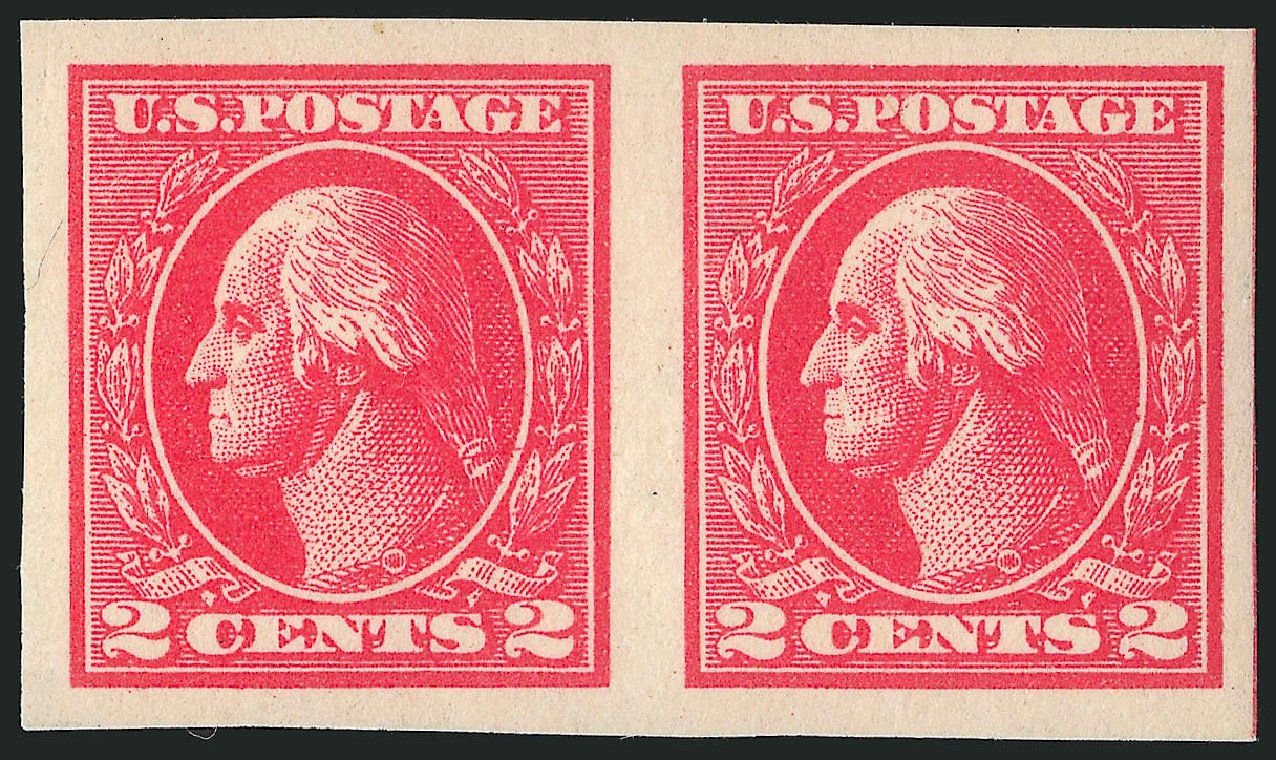 Costs of US Stamps Scott #534B: 2c 1920 Washington Offset Imperf. Robert Siegel Auction Galleries, Feb 2015, Sale 1093, Lot 499