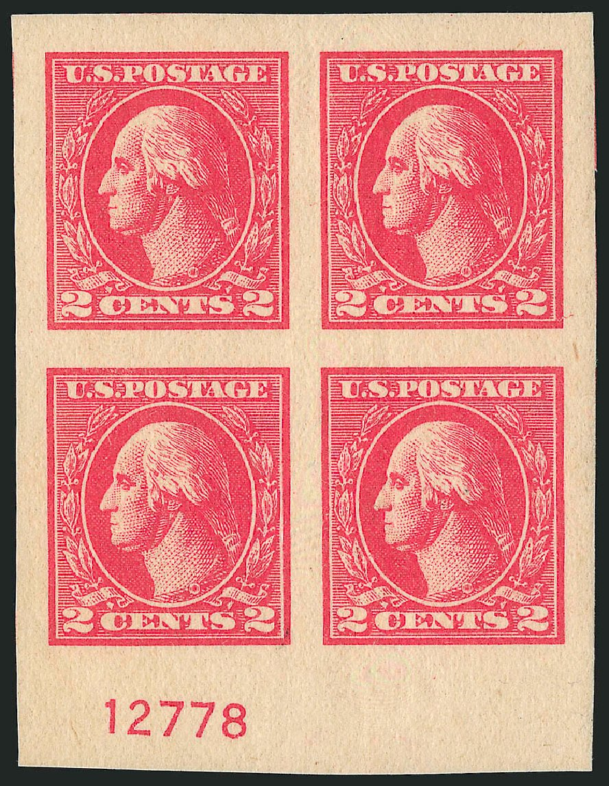 US Stamp Value Scott Cat. # 534B: 2c 1920 Washington Offset Imperf. Robert Siegel Auction Galleries, Apr 2015, Sale 1096, Lot 769