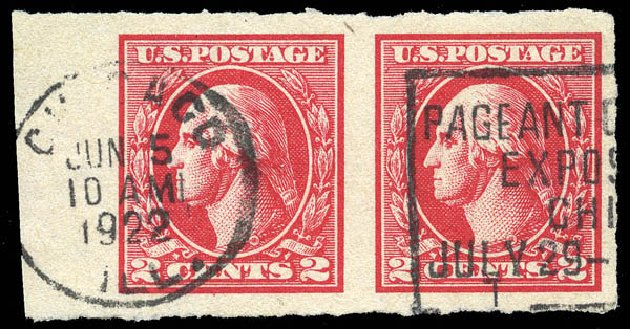 Prices of US Stamps Scott Cat. 534B: 1920 2c Washington Offset Imperf. Matthew Bennett International, Feb 2015, Sale 351, Lot 220