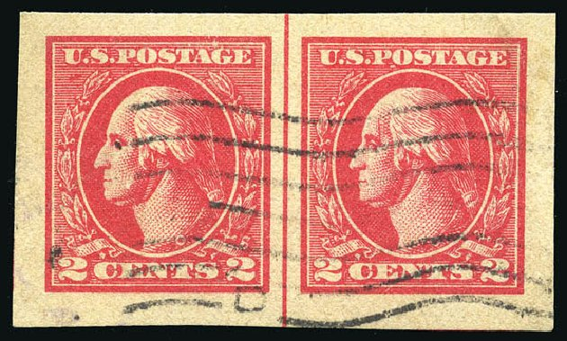 US Stamp Values Scott # 534B: 2c 1920 Washington Offset Imperf. Matthew Bennett International, Feb 2015, Sale 351, Lot 221