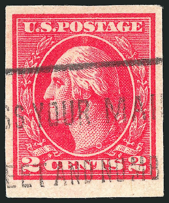 US Stamps Values Scott # 534B - 1920 2c Washington Offset Imperf. Robert Siegel Auction Galleries, Apr 2015, Sale 1096, Lot 771