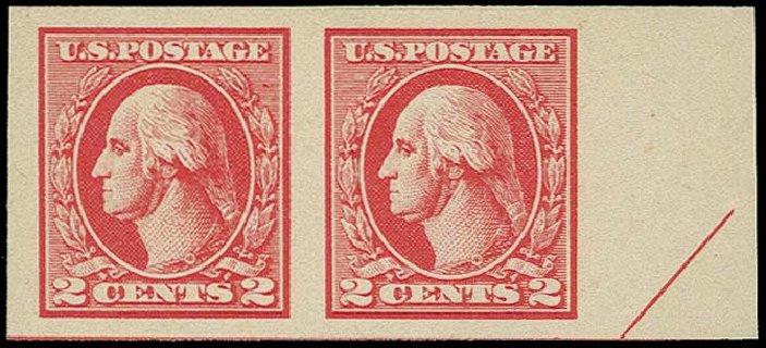 US Stamp Price Scott # 534B - 1920 2c Washington Offset Imperf. H.R. Harmer, Oct 2014, Sale 3006, Lot 1404