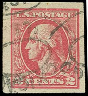 Values of US Stamps Scott Cat. # 534B - 1920 2c Washington Offset Imperf. H.R. Harmer, Jun 2015, Sale 3007, Lot 3354