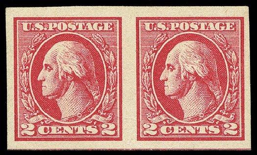 US Stamp Values Scott Catalog # 534B - 1920 2c Washington Offset Imperf. Spink Shreves Galleries, May 2014, Sale 148, Lot 342