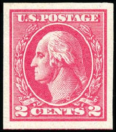 Costs of US Stamp Scott # 534B - 2c 1920 Washington Offset Imperf. Schuyler J. Rumsey Philatelic Auctions, Apr 2015, Sale 60, Lot 2433