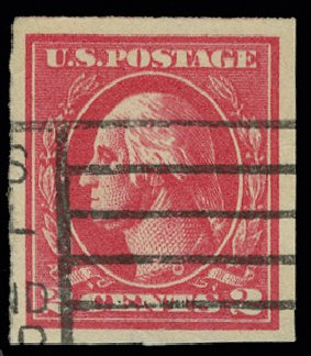 Prices of US Stamps Scott #534B: 1920 2c Washington Offset Imperf. H.R. Harmer, May 2014, Sale 3005, Lot 1306