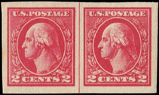 Costs of US Stamps Scott Catalog 534B: 2c 1920 Washington Offset Imperf. Regency-Superior, Aug 2015, Sale 112, Lot 926