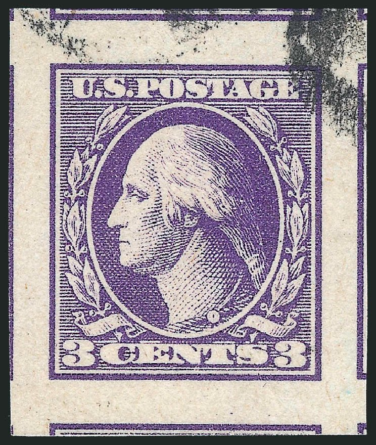 US Stamps Value Scott 535: 3c 1918 Washington Offset Imperf. Robert Siegel Auction Galleries, Oct 2012, Sale 1032, Lot 3627