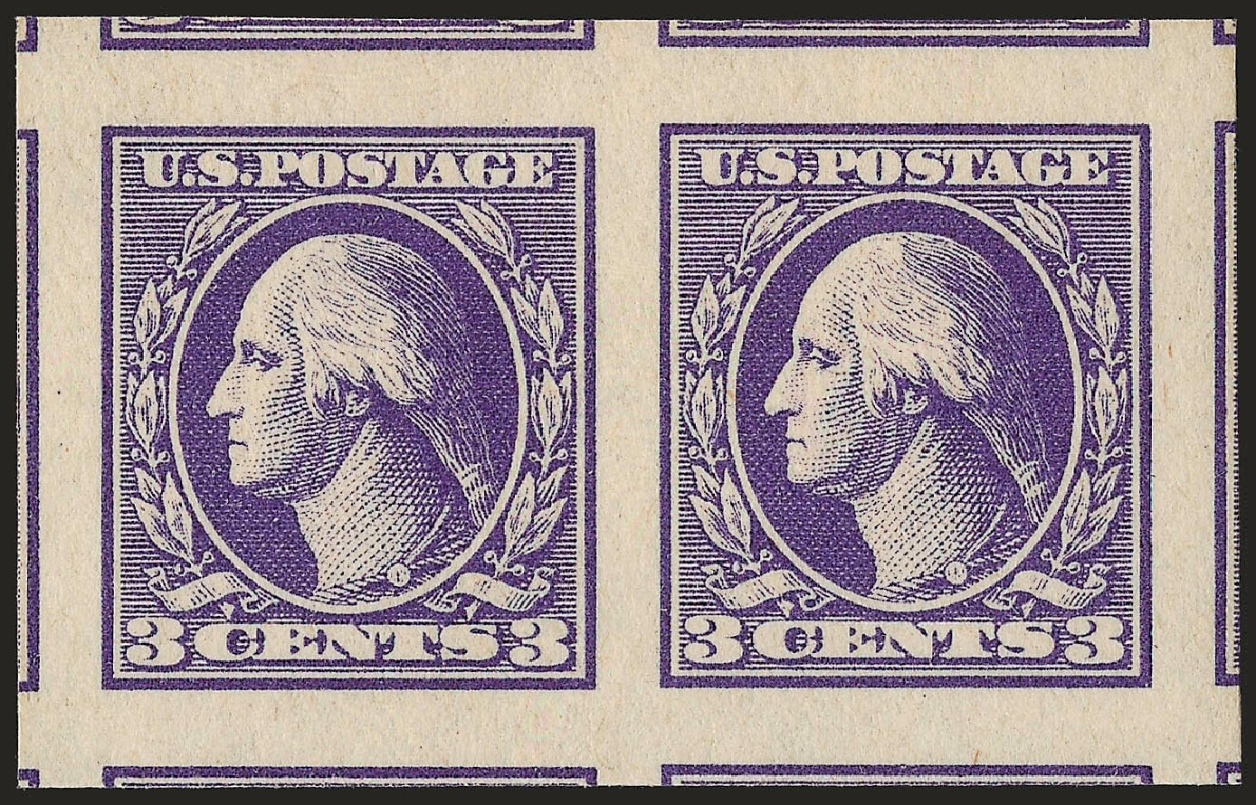 Cost of US Stamp Scott 535 - 1918 3c Washington Offset Imperf. Robert Siegel Auction Galleries, Sep 2009, Sale 968B, Lot 708