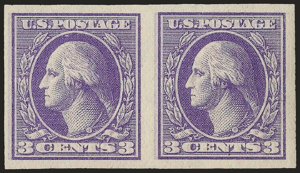 Value of US Stamps Scott Catalogue #535: 1918 3c Washington Offset Imperf. Robert Siegel Auction Galleries, Sep 2009, Sale 968B, Lot 709