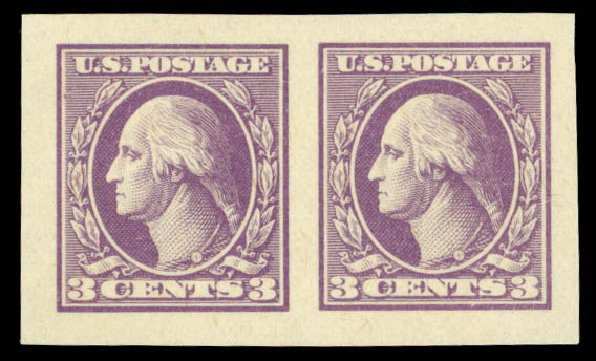 Price of US Stamp Scott #535: 1918 3c Washington Offset Imperf. Daniel Kelleher Auctions, Sep 2014, Sale 655, Lot 571