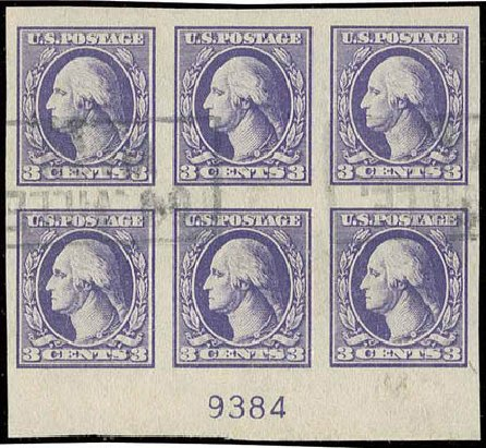 US Stamps Price Scott Catalog # 535 - 3c 1918 Washington Offset Imperf. H.R. Harmer, Nov 2013, Sale 3004, Lot 1304