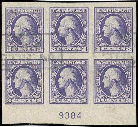 US Stamps Price Scott Catalog # 535 - 3c 1918 Washington Offset Imperf. H.R. Harmer, Nov 2013, Sale 3004, Lot 1304