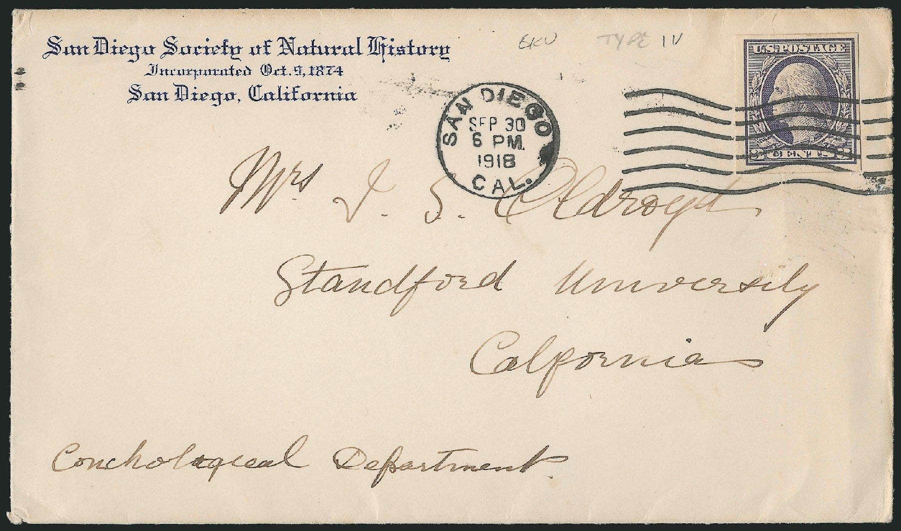 US Stamps Values Scott Cat. #535 - 1918 3c Washington Offset Imperf. Robert Siegel Auction Galleries, Feb 2015, Sale 1093, Lot 502