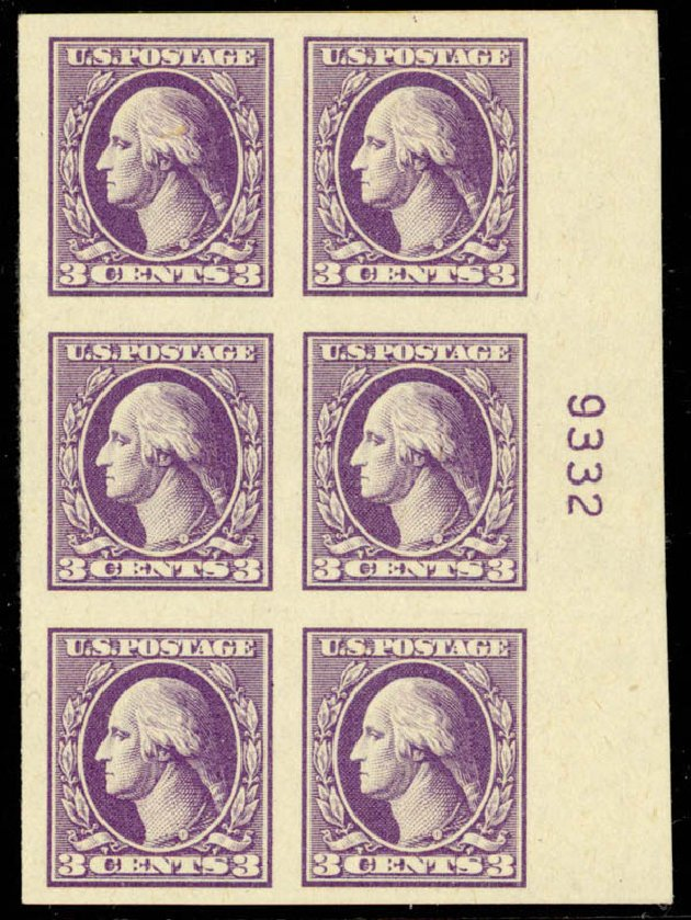 Price of US Stamp Scott Cat. # 535 - 3c 1918 Washington Offset Imperf. Daniel Kelleher Auctions, Mar 2013, Sale 635, Lot 643