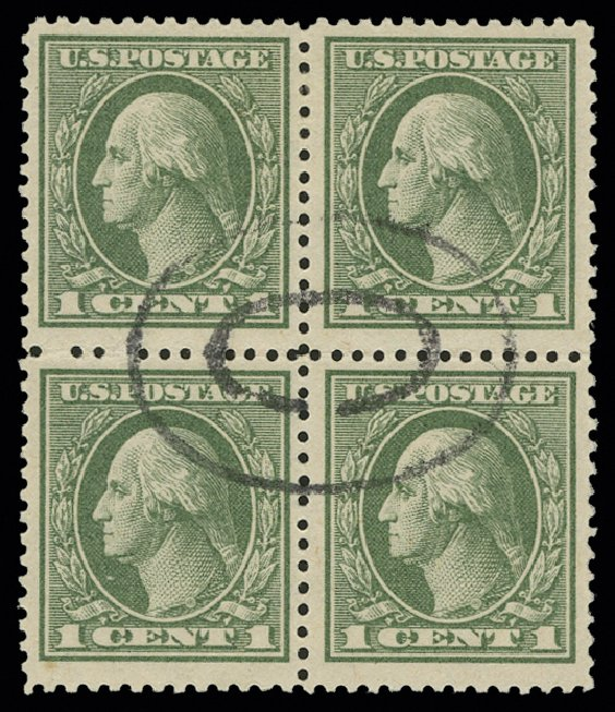 US Stamps Price Scott Cat. 536 - 1c 1919 Washington Offset Perf 12.5. H.R. Harmer, May 2014, Sale 3005, Lot 1307
