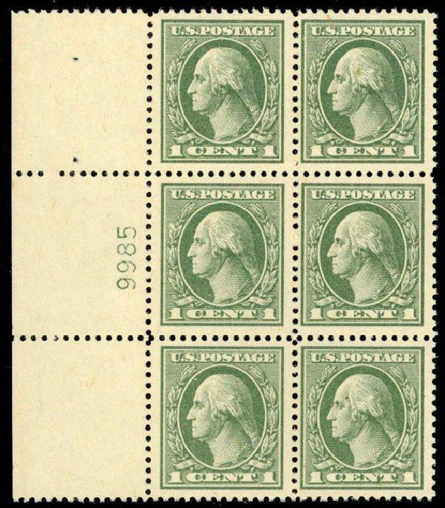 US Stamp Price Scott Catalogue #536 - 1c 1919 Washington Offset Perf 12.5. Daniel Kelleher Auctions, Oct 2014, Sale 660, Lot 2420