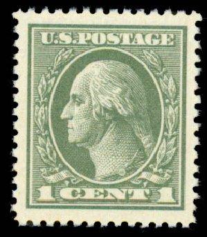 US Stamp Values Scott Catalogue 536: 1c 1919 Washington Offset Perf 12.5. Daniel Kelleher Auctions, Aug 2015, Sale 672, Lot 2790
