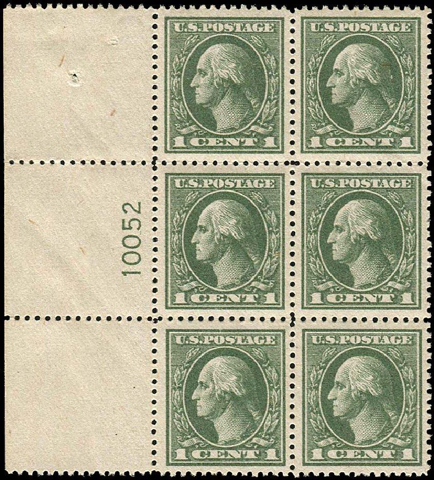 Costs of US Stamps Scott # 536: 1919 1c Washington Offset Perf 12.5. Regency-Superior, Nov 2014, Sale 108, Lot 1350