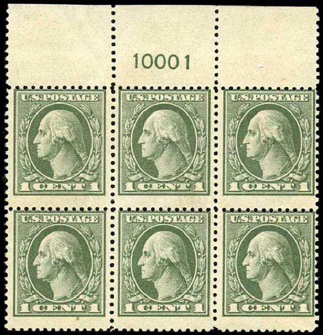 Costs of US Stamp Scott Catalogue # 536: 1c 1919 Washington Offset Perf 12.5. Harmer-Schau Auction Galleries, Oct 2013, Sale 99, Lot 201