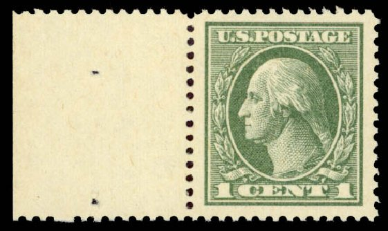 Values of US Stamps Scott Catalog #536 - 1c 1919 Washington Offset Perf 12.5. Daniel Kelleher Auctions, May 2015, Sale 669, Lot 3131