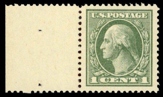 Values of US Stamps Scott Catalog #536 - 1c 1919 Washington Offset Perf 12.5. Daniel Kelleher Auctions, May 2015, Sale 669, Lot 3131