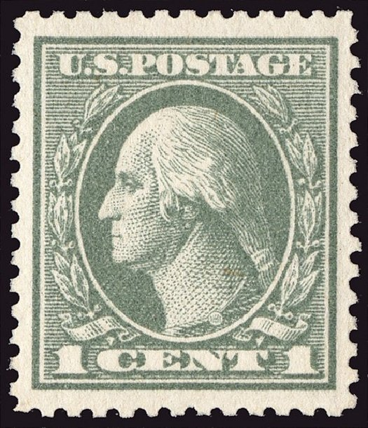 Price of US Stamp Scott Cat. 536 - 1919 1c Washington Offset Perf 12.5. Spink Shreves Galleries, Jan 2014, Sale 146, Lot 444