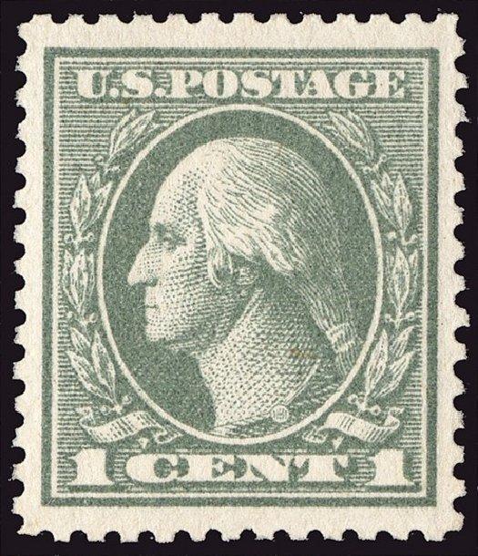Price of US Stamp Scott Cat. 536 - 1919 1c Washington Offset Perf 12.5. Spink Shreves Galleries, Jan 2014, Sale 146, Lot 444
