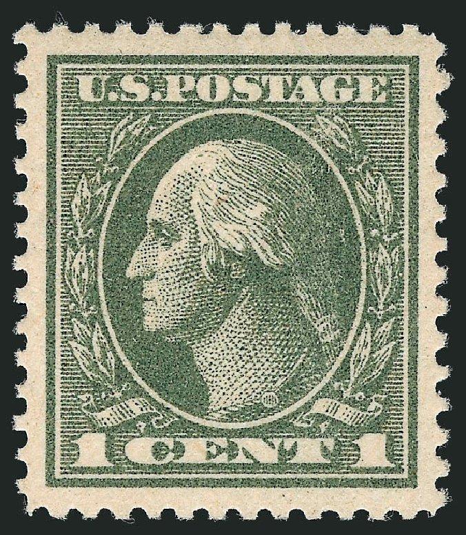 Price of US Stamps Scott Catalog 536: 1c 1919 Washington Offset Perf 12.5. Robert Siegel Auction Galleries, Dec 2013, Sale 1062, Lot 725