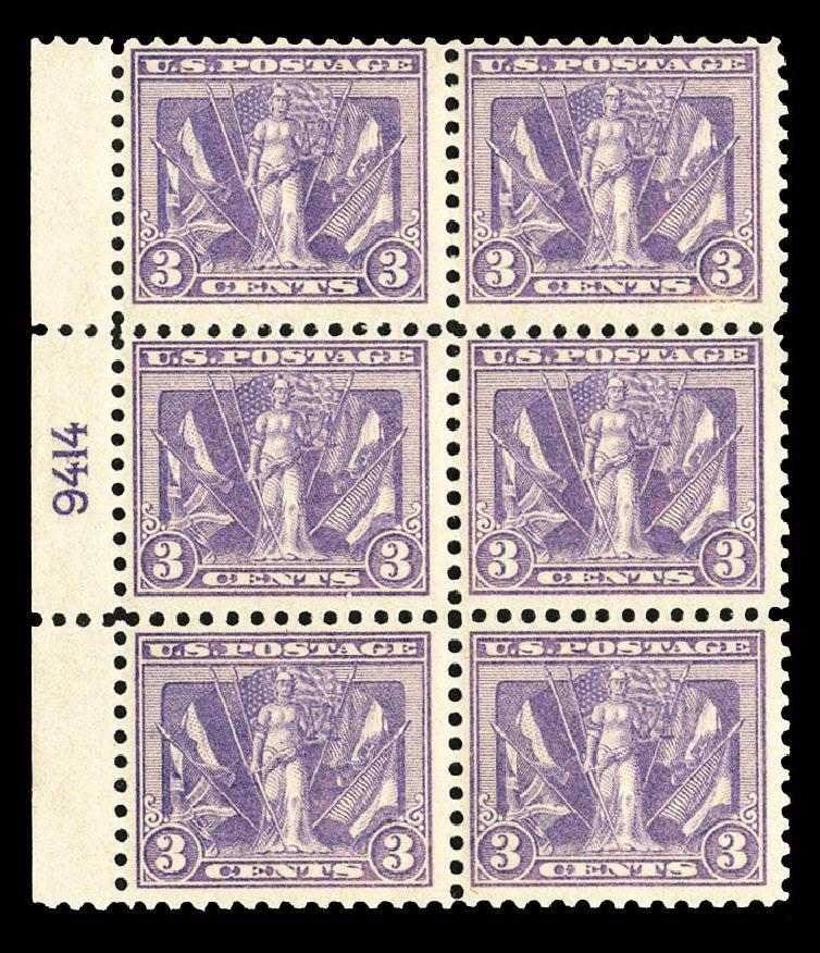 US Stamps Values Scott 537: 1919 3c Victory. Cherrystone Auctions, Jul 2015, Sale 201507, Lot 2171