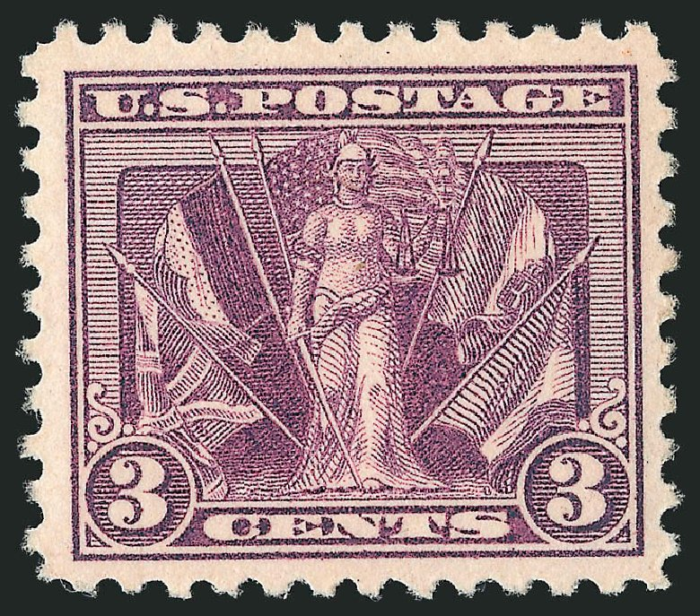 Cost of US Stamp Scott Catalogue 537 - 3c 1919 Victory. Robert Siegel Auction Galleries, Dec 2014, Sale 1090, Lot 1574