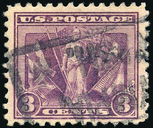 US Stamp Value Scott Catalogue 537 - 3c 1919 Victory. Matthew Bennett International, Feb 2015, Sale 351, Lot 222