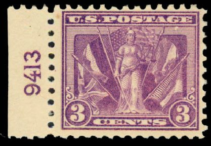 Price of US Stamps Scott Catalog # 537: 3c 1919 Victory. Daniel Kelleher Auctions, Aug 2015, Sale 672, Lot 2792
