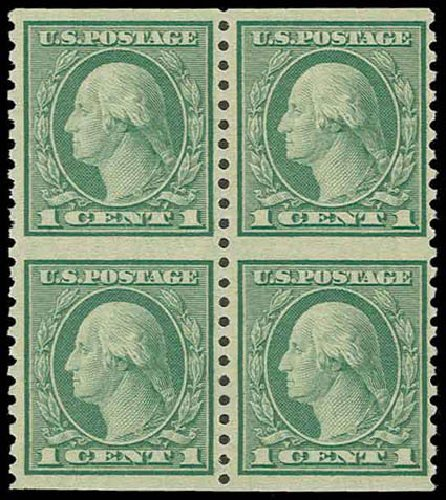 US Stamp Prices Scott Catalog 538 1c 1919 Washington Rotary Perf 11x10 HR