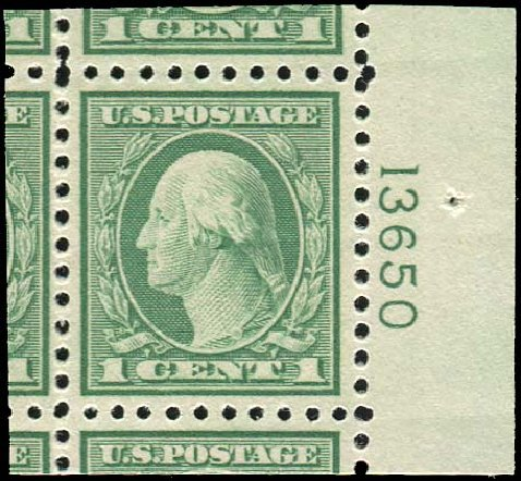 US Stamps Value Scott Catalog 542 1920 1c Washington Rotary Perf 10x11 Regency