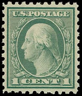 US Stamp Value Scott Cat 543 1921 1c Washington Rotary Perf 10