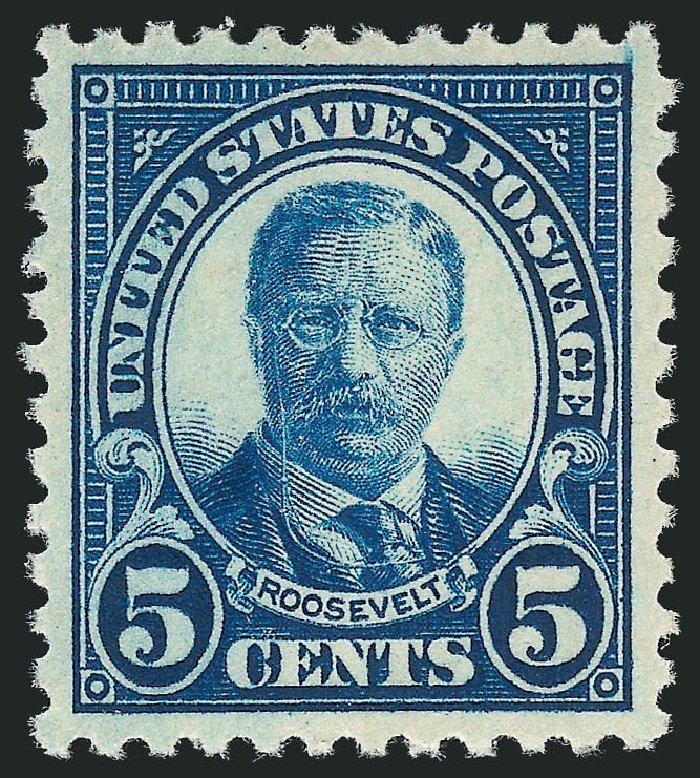US Stamps Price Scott Cat 557 1923 5c Roosevelt Perf 11 Robert Siegel
