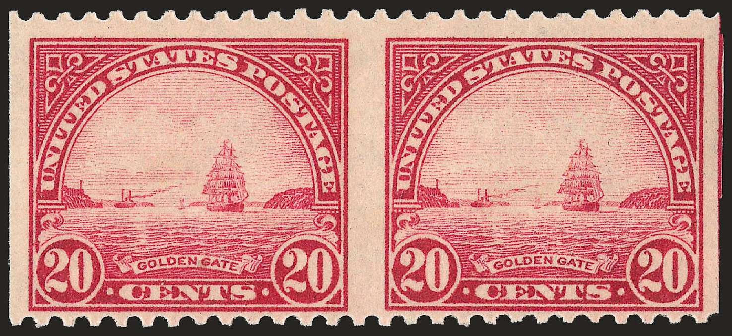 Costs Of US Stamps Scott Catalog 567 1923 20c Golden Gate Perf 11 Robert