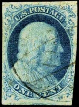 Costs of US Stamps Scott Catalog # 5A: 1851 1c Franklin. Harmer-Schau Auction Galleries, Feb 2012, Sale 92, Lot 767